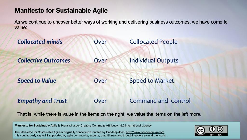 Sustainable Agile ManifestoC