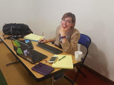 Katharine Chajka at work