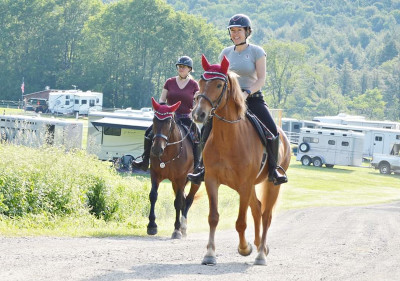 Katharine Chajka with horses